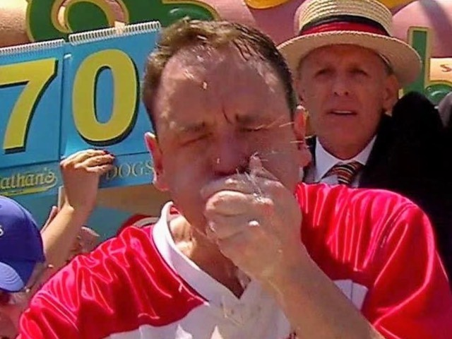 Joey Chestnut Cruises to Victory at Nathan's Famous Hot Dog Eating Contest, Sets Record at 74