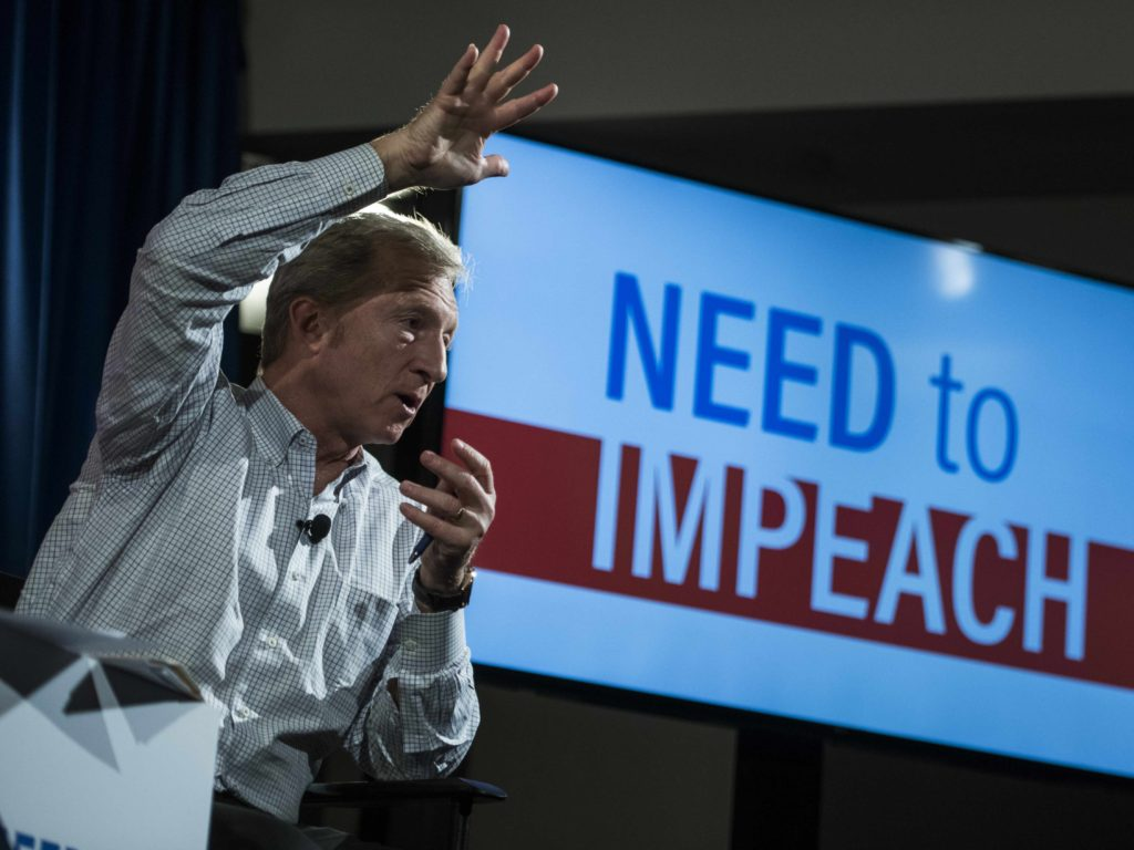 Tom Steyer Says President Trump Has Committed 'Treason'