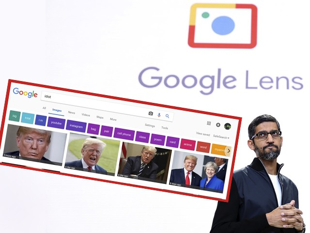 Pictures of Donald Trump Dominate Google Image Search for 'Idiot'
