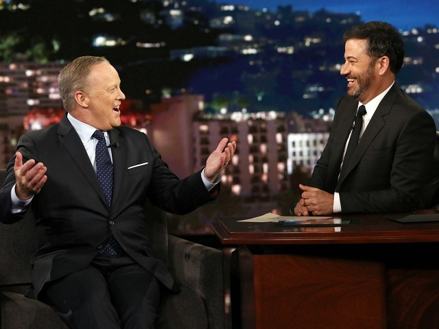 Jimmy Kimmel to Sean Spicer: Why Lie for that 'Son of a B*tch' Trump?