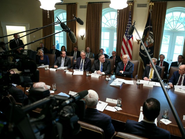 Trump Welcomes Reporters to Cabinet Meeting, Citing 'Freedom of the Press'