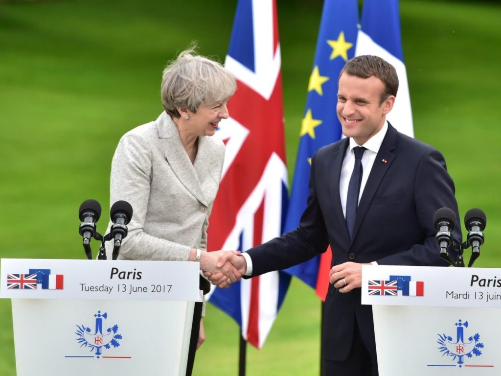 Appeaser Theresa to Beg France's Macron to Accept Soft Brexit Plan