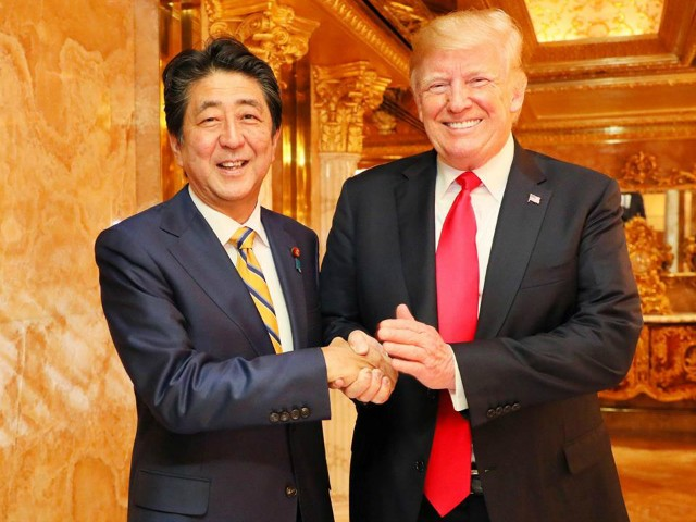 Japan's Prime Minister Shinzo Abe: Dinner with Trump About North Korea, Trade 'Very Constructive'