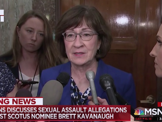 Susan Collins: Both Brett Kavanaugh and Accuser Must Testify Under Oath