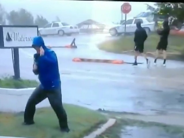WATCH: Weather Channel Reporter Mocked for Appearing to Exaggerate Florence