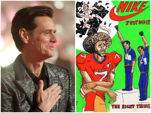 Jim Carrey Paints Glowing Colin Kaepernick Painting: 'Thank You Nike'
