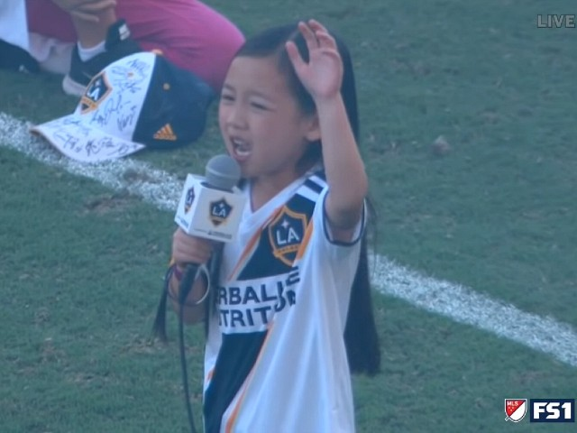 7-Year-Old Wows Fans with National Anthem Performance at LA Galaxy Game