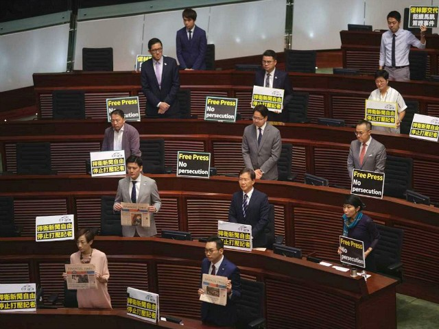 Hong Kong Lawmakers Walk Out to Protest Crackdown on Press Freedom