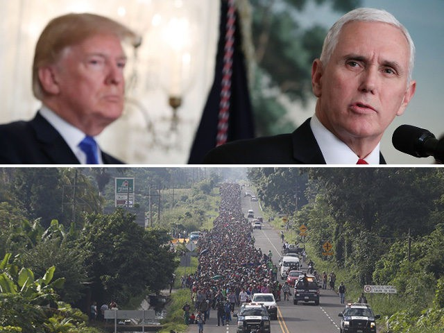 Mike Pence: 'Inconceivable' That Migrant Caravan Doesn't Have Middle Eastern Marchers