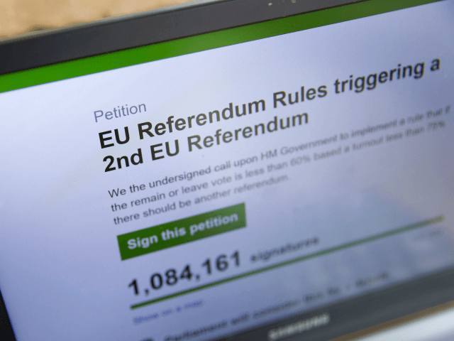 Petition to Stop Second Brexit Vote Hits 100,000 Signatures in Weeks