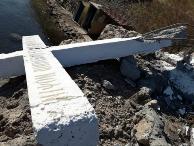 Lesbos: Huge Christian Cross Destroyed After Migrant NGO Demanded Removal of 'Crusader Tool'