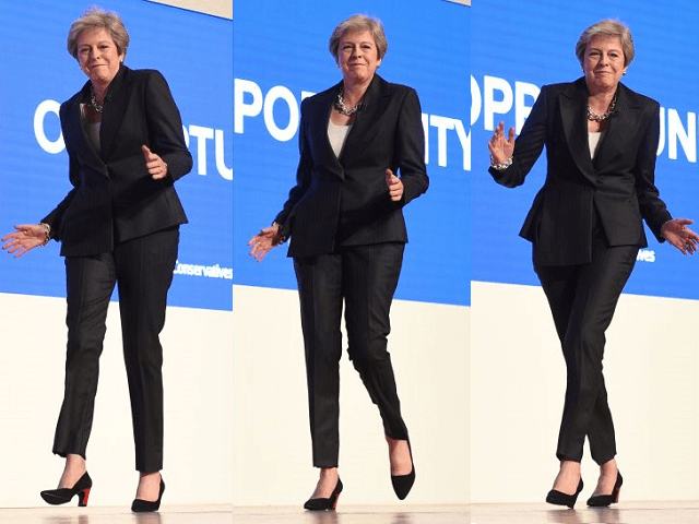 British Prime Minister Dances Onto Stage, Says Nothing in Wide-Ranging Hour Long Speech