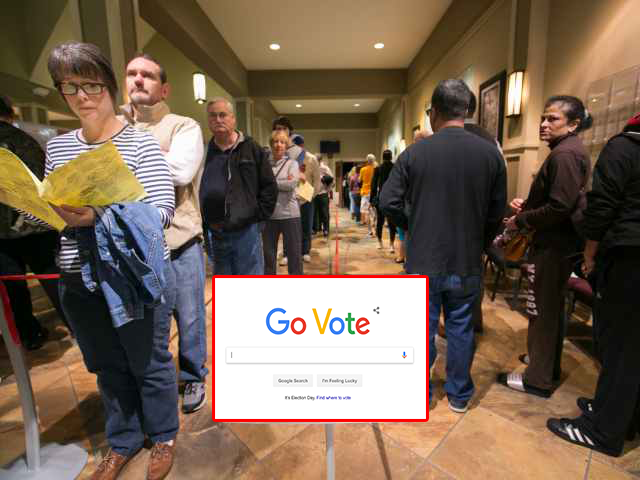 Google Changes Search Engine Logo to 'Go Vote'