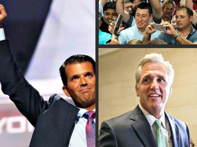 Exclusive -- Donald Trump, Jr., Kevin McCarthy to Host Tele-Townhall with One Million Low-Propensity GOP Voters Ahead of Midterms