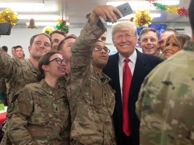 Fake News: NBC Spreads False Claim President Trump Did Not Visit Troops at 'Christmastime'