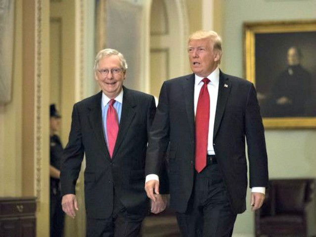 Donald Trump Urges Mitch McConnell to Use 'Nuclear Option' to Fund Government