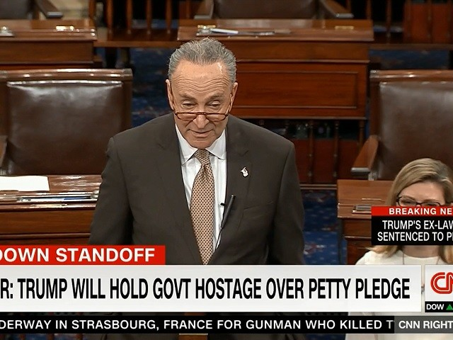 Schumer: Trump Will Hold Part of Government 'Hostage' 'For a Petty Campaign Pledge'