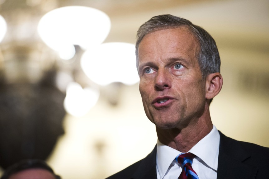 Incoming GOP Senate Whip Thune: 'Not a Big Fan' of Reallocating Money to Wall