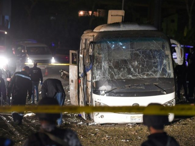 Roadside Bomb Hits Tour Bus near Pyramids of Egypt, Two Killed