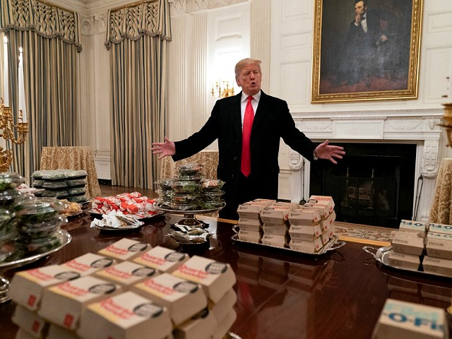 Donald Trump Buys Fast Food Spread for Clemson Football Champions