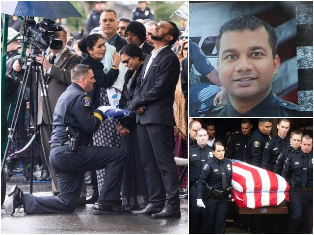 PHOTOS: Hundreds of Police Officers, Thousands from Community Attend Funeral for 'American Hero' Ronil Singh