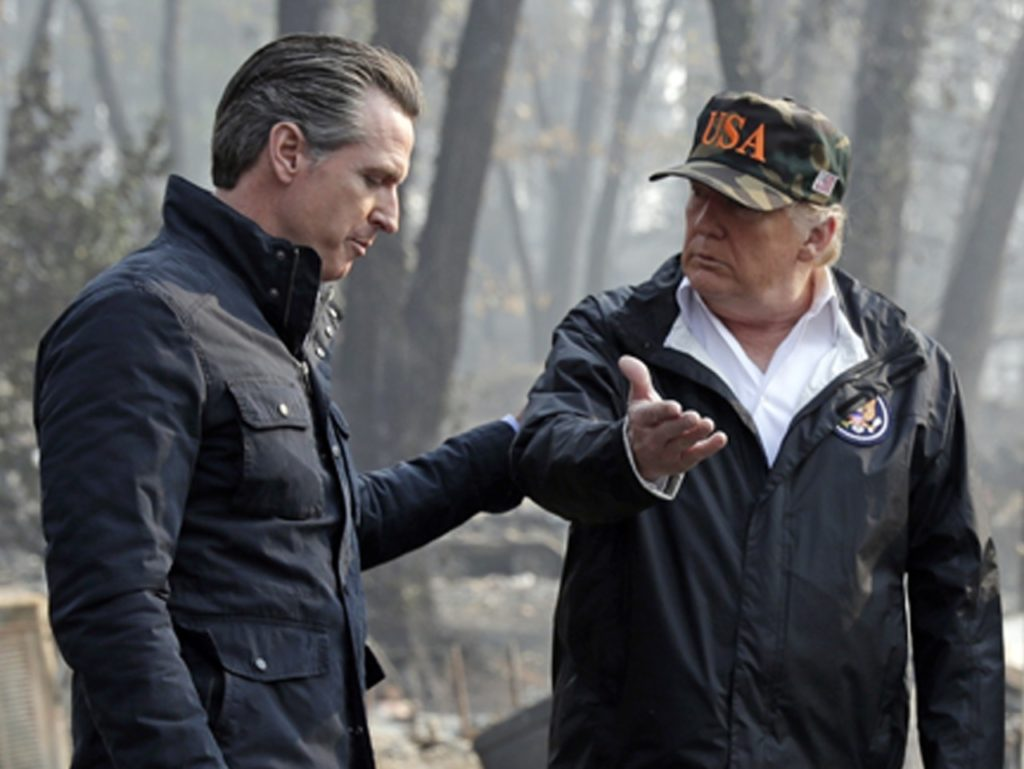 Gavin Newsom, Trump Fight over Wildfire Funding After Hostile Inaugural Address