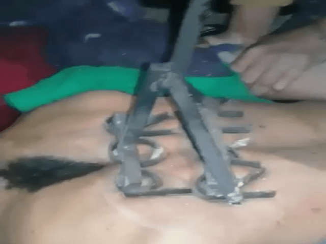 PHOTOS -- Mexican Cartel Tortures Fuel Thief with Branding Iron