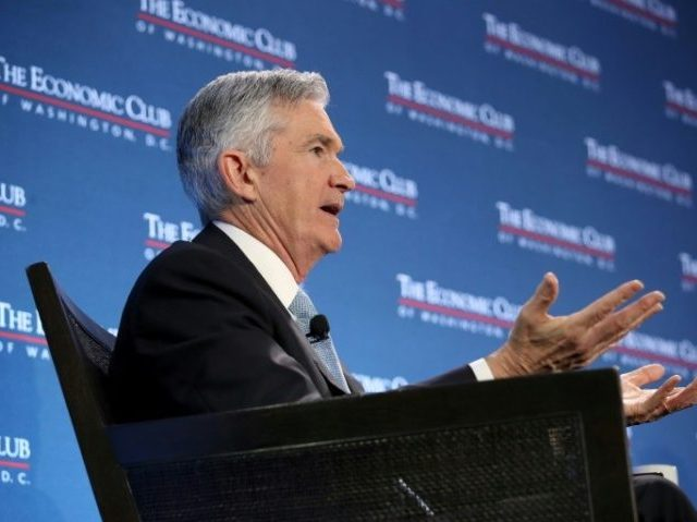 Fed's Powell Says U.S. Economy Is Solid but Rest of the World Is Slowing Down