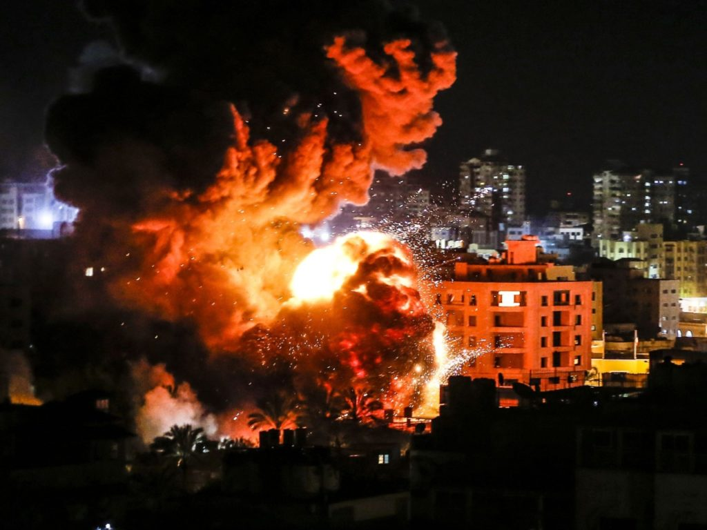 Pictures: Hamas Terrorist Leader's Office Destroyed by Israeli Air Strike