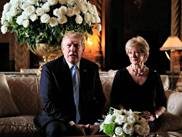 Donald Trump Announces Linda McMahon Departure from Small Business Administration