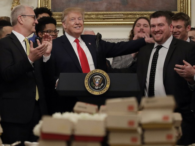 Donald Trump Serves Big Macs and Chick-fil-A to Football Champions at the White House