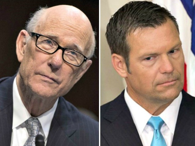 GOP Sen. Roberts Promises Support for Kris Kobach at DHS