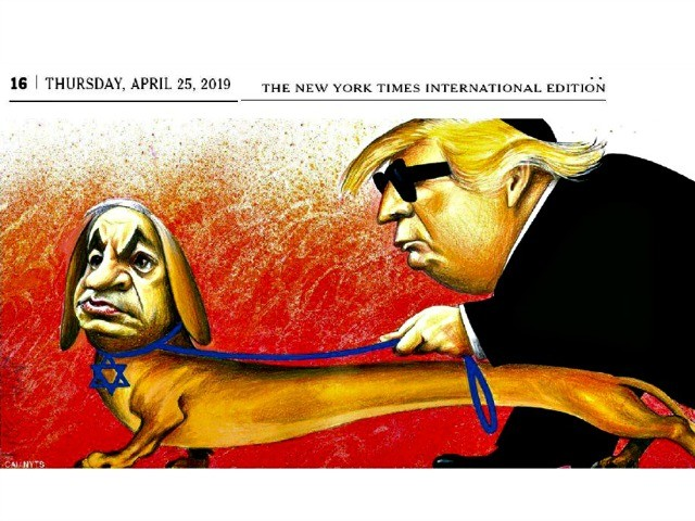 EXCLUSIVE: Yair Netanyahu Slams NY Times' 'Vile, Anti-Semitic' Cartoon Depicting His Father and Trump