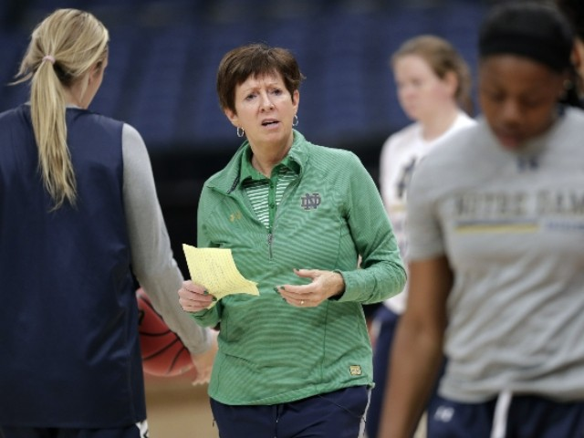 WATCH: Notre Dame Basketball Coach Calls for More Women in Power: 'Time's Up. It Is Our Turn'
