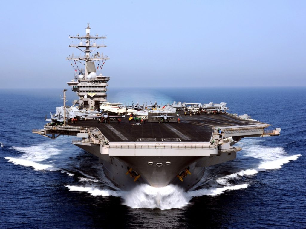 Watch: Iran Guards Claim Drone Overflight of U.S. Carrier in Gulf