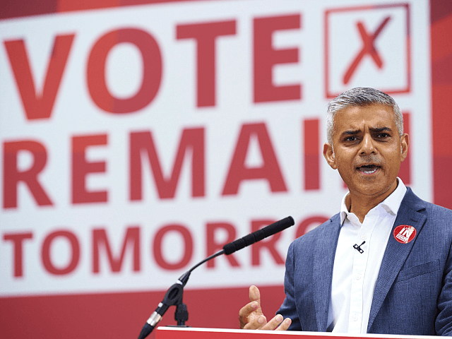 London's Khan Says May Should Have Cancelled Brexit