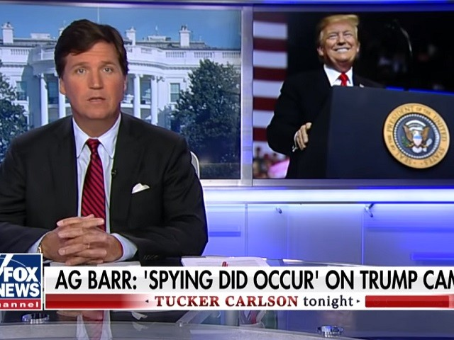 Tucker Carlson on AG Barr's Claim: 'This Is All Spying -- There's No Other Word for It'