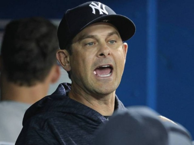 WATCH: Yankees Aaron Boone Caught Eating a Booger on Camera