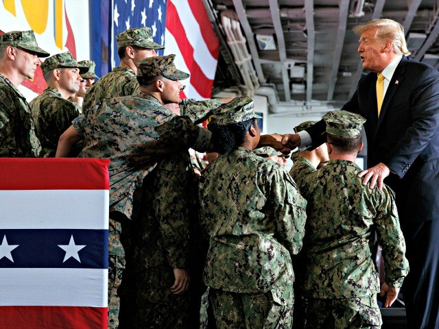 Donald Trump Honors Memorial Day on Ship Deployed in the Pacific