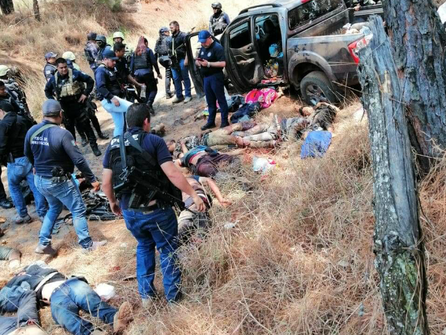 GRAPHIC: Mexican Government Claims 10 Cartel Men Died in Firefight -- Photos Show More