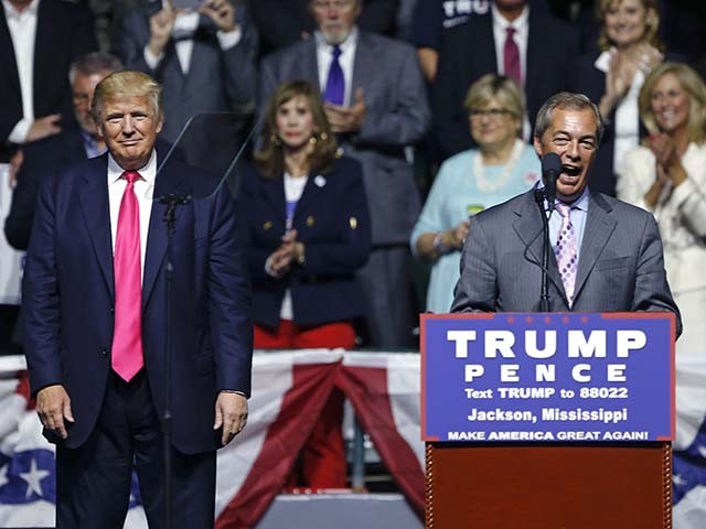 Donald Trump Praises Nigel Farage for 'Great Victory' in European Union Vote