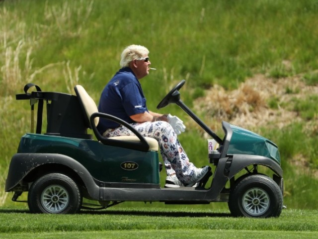 WATCH: John Daly Makes PGA Championship Presence Felt with Cigarette, McDonald's in Hand