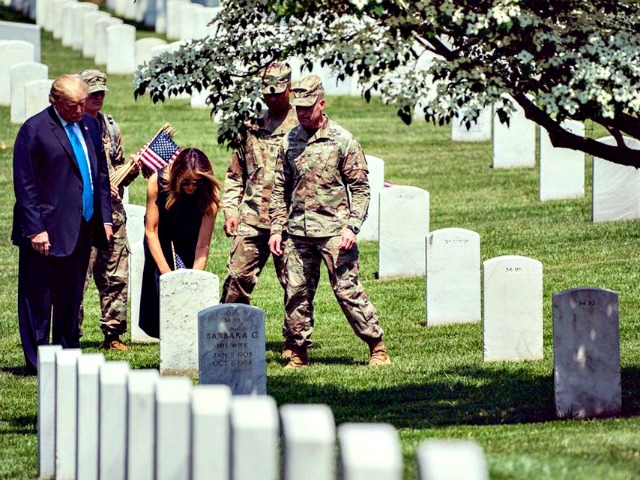 Donald Trump and Melania Trump Visit Arlington Cemetery Before Trip to Japan