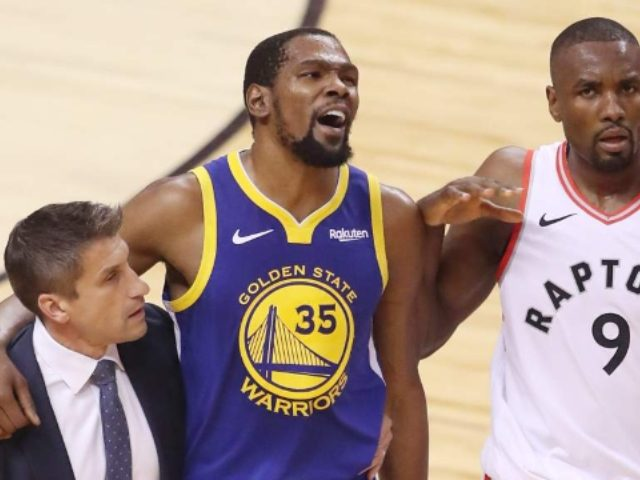 WATCH: Raptors Fans Cheer After Kevin Durant Suffers Achilles Injury
