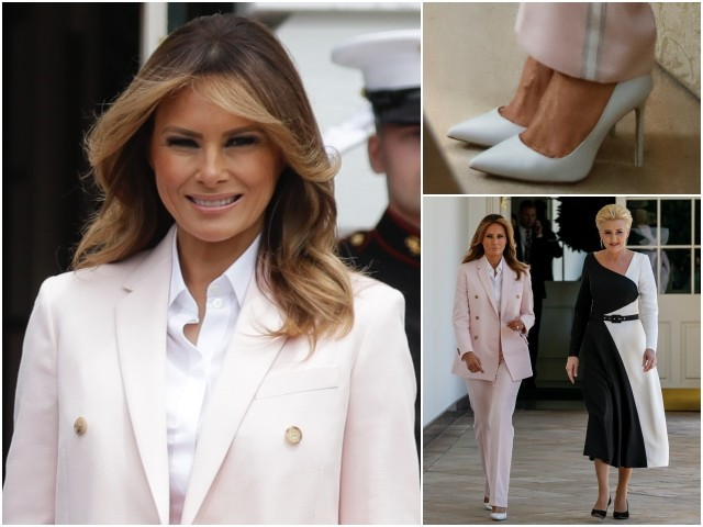 Fashion Notes: Melania Trump Opts for Girlishly Pink Calvin Klein Suit
