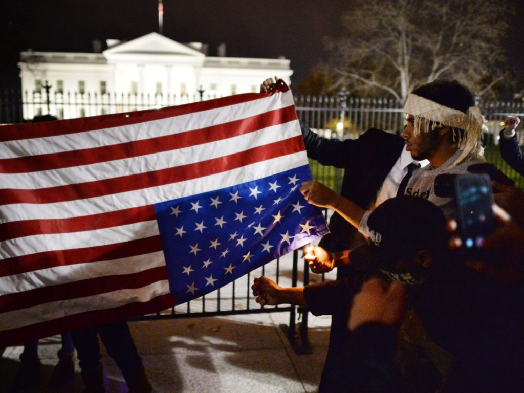 Nolte: Trump Is Wrong About Outlawing American Flag Burning