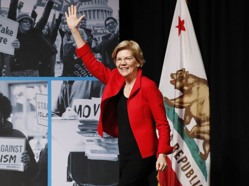 Poll: Elizabeth Warren 2nd in California; 1st After 'Second Choice' Question