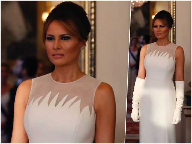 Fashion Notes: Melania Trump Is the Crown Jewel in Dior Haute Couture for U.K. State Dinner
