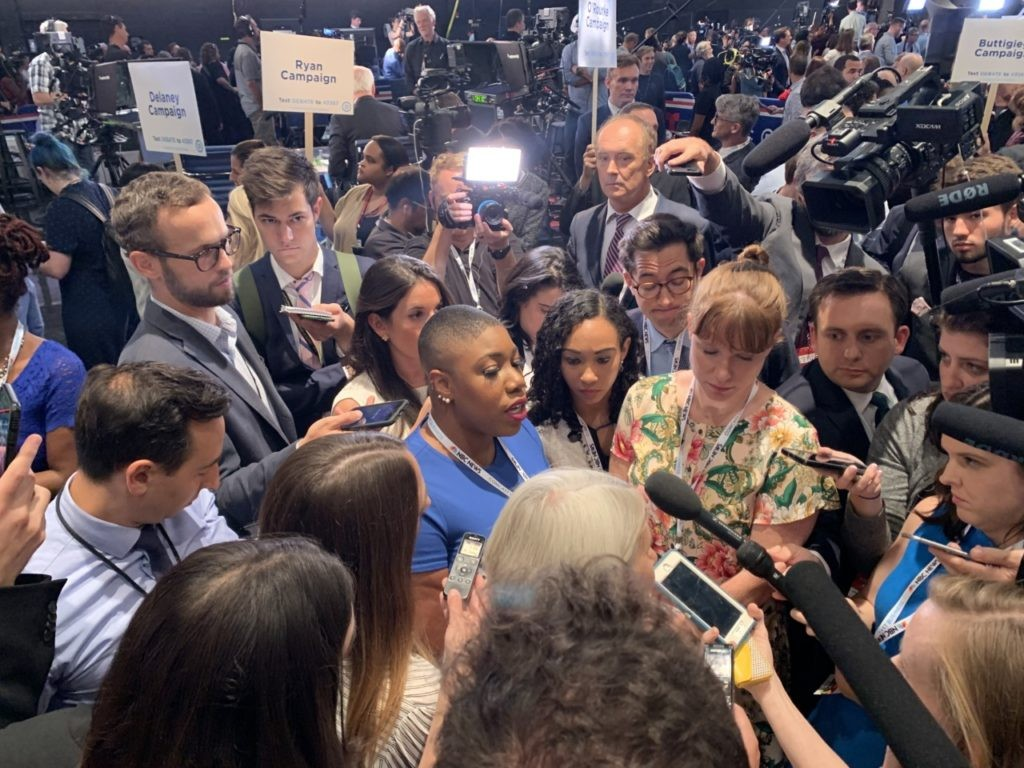 VIDEO: Joe Biden Surrogates Battle in Spin Room at Democrat Debate