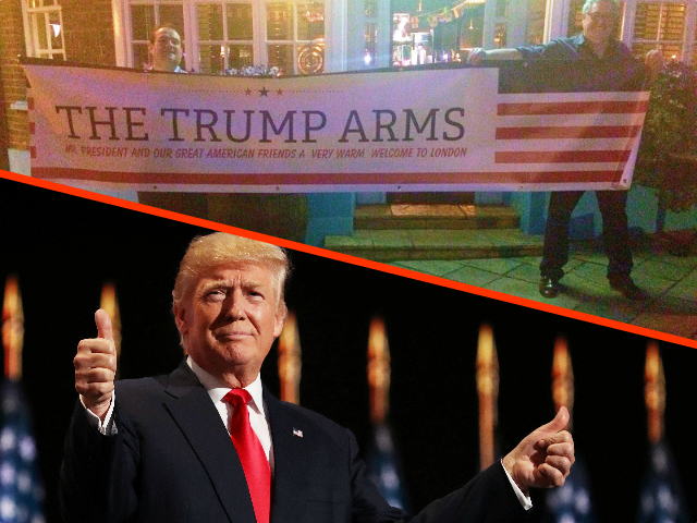 Landlord Renames London Pub 'Trump Arms' to Welcome U.S. President